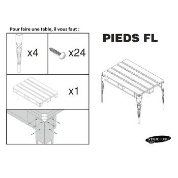 Pied FL By Stilic Force Rangement