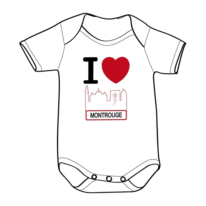 "BODY ""I LOVE MONTROUGE"" Made In Montrouge Enfants"